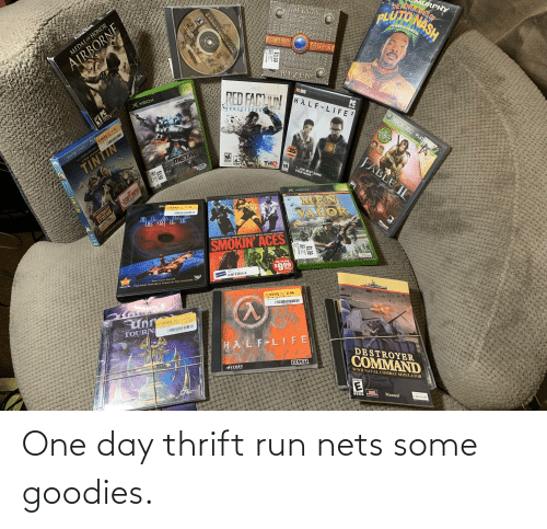 Nets: One day thrift run nets some goodies.