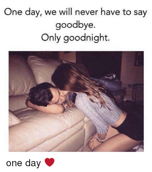 Memes, 🤖, and One Day: One day, we will never have to say  goodbye.  Only goodnight one day ❤