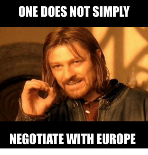 Glorious Greek Empire: ONE DOES NOT SIMPLY  NEGOTIATE WITH EUROPE