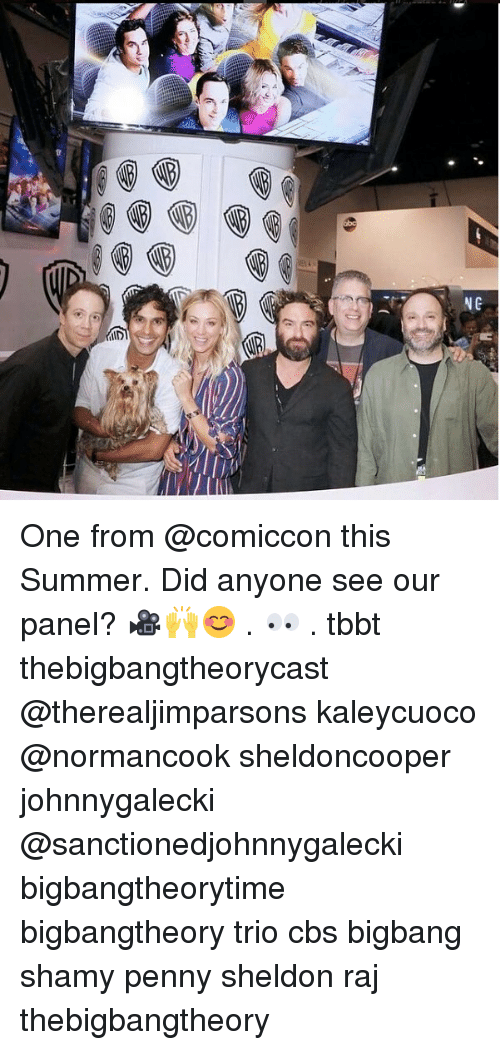 bigbangtheory: One from @comiccon this Summer. Did anyone see our panel? 🎥🙌😊 . 👀 . tbbt thebigbangtheorycast @therealjimparsons kaleycuoco @normancook sheldoncooper johnnygalecki @sanctionedjohnnygalecki bigbangtheorytime bigbangtheory trio cbs bigbang shamy penny sheldon raj thebigbangtheory
