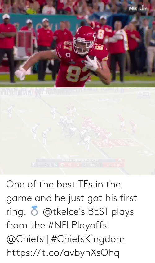 tes: One of the best TEs in the game and he just got his first ring. 💍  @tkelce's BEST plays from the #NFLPlayoffs!  @Chiefs | #ChiefsKingdom https://t.co/avbynXsOhq
