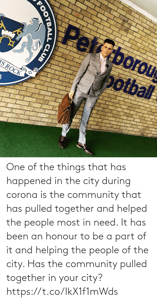 Has Been: One of the things that has happened in the city during corona is the community that has pulled together and helped the people most in need. It has been an honour to be a part of it and helping the people of the city.   Has the community pulled together in your city? https://t.co/IkX1f1mWds