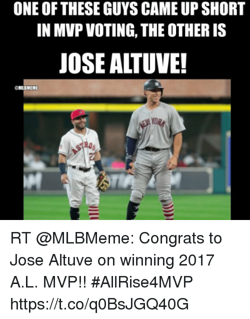 one of these guys came up short in mvp voting 29058277 🅱 25 best memes about jose altuve jose altuve memes