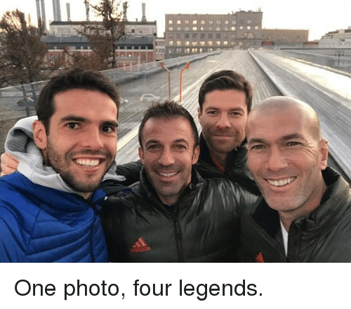 Memes, 🤖, and Legends: One photo, four legends.