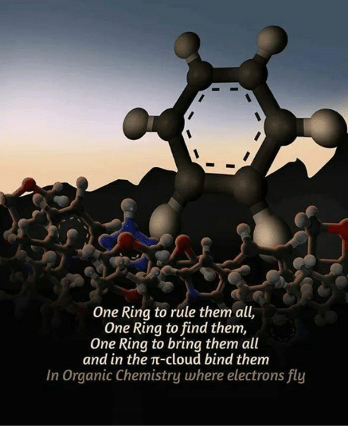 One Ring To Rule Them All One Ring To: One Ring to rule them all,  One Ring to find them,  One Ring to bring them all  and in the TT-cloud bind them  In Organic Chemistry where electrons fly