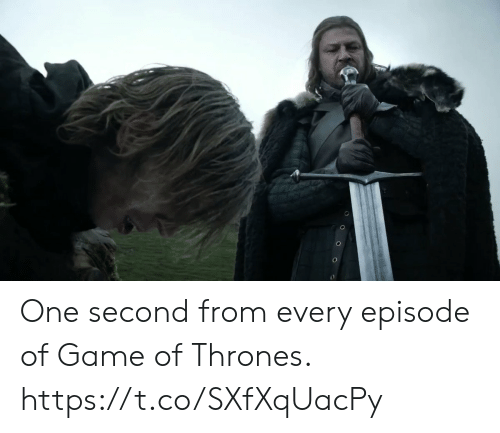 one second: One second from every episode of Game of Thrones. https://t.co/SXfXqUacPy
