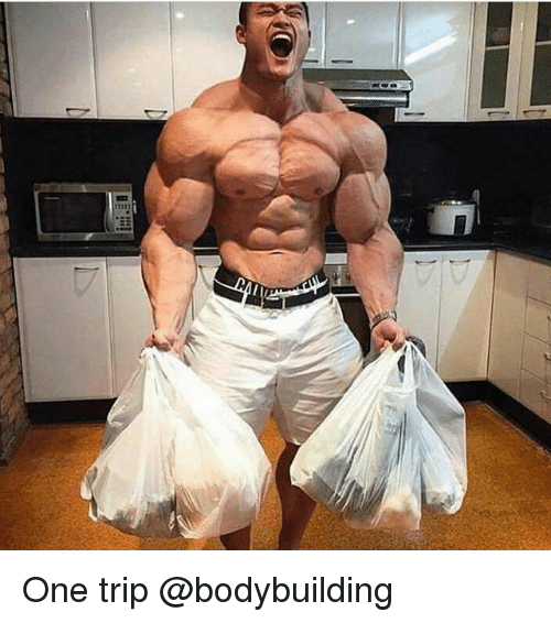 Memes, Bodybuilding, and 🤖: One trip @bodybuilding