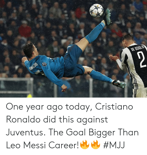 cristiano: One year ago today, Cristiano Ronaldo did this against Juventus.  The Goal Bigger Than Leo Messi Career!🔥🔥   #MJJ