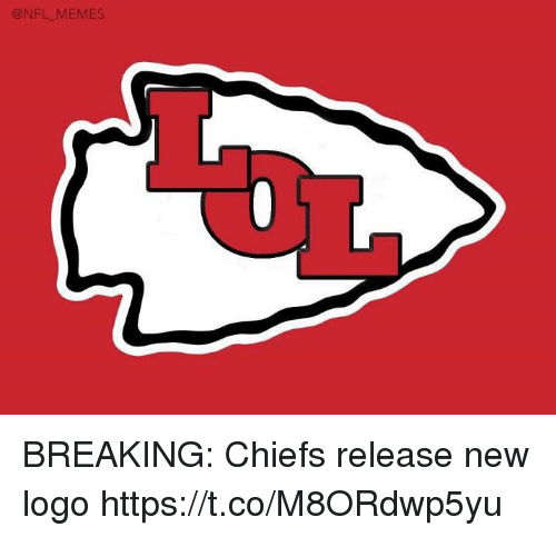 Football, Memes, and Nfl: ONFL MEMES BREAKING: Chiefs release new logo https://t.co/M8ORdwp5yu