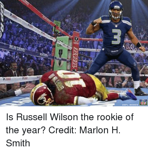 Russell Wilson: ONFL MEMES Is Russell Wilson the rookie of the year? 