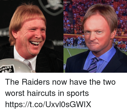 Football, Memes, and Nfl: ONFL MEMES The Raiders now have the two worst haircuts in sports https://t.co/Uxvl0sGWIX