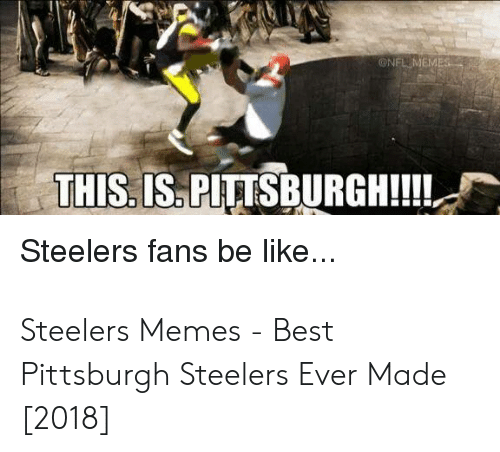 steelers fans be like: ONFLMEMES  THIS. IS. PITTSBURGH!!  Steelers fans be like... Steelers Memes - Best Pittsburgh Steelers Ever Made [2018]