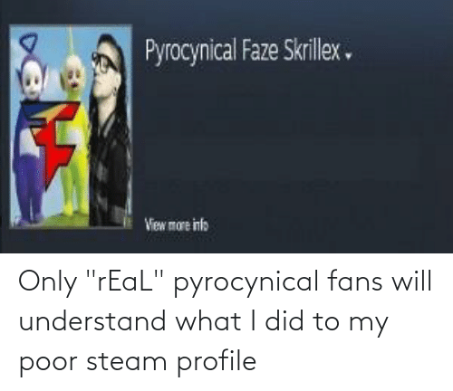 "Pyrocynical: Only ""rEaL"" pyrocynical fans will understand what I did to my poor steam profile"