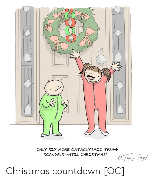 Countdown: ONLY SIX MORE CATACLYSMLC TRUMP  SCANDALS UNTIL CHRISTMAS! Christmas countdown [OC]