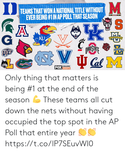 Nets: Only thing that matters is being #1 at the end of the season 💪  These teams all cut down the nets without having occupied the top spot in the AP Poll that entire year 👏👏 https://t.co/lP7SEuvWI0