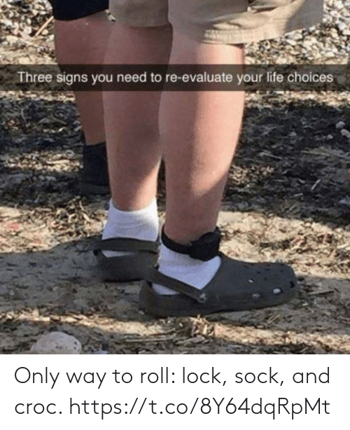 Sock: Only way to roll: lock, sock, and croc. https://t.co/8Y64dqRpMt