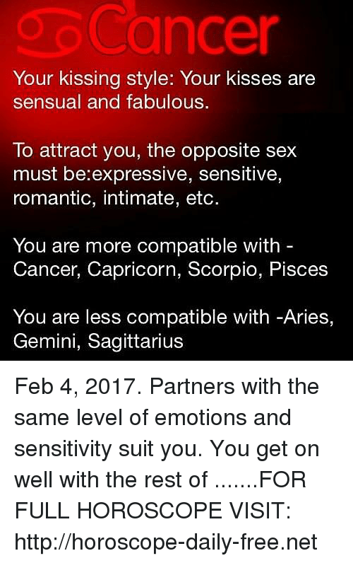 Aries and cancer sexually compatible