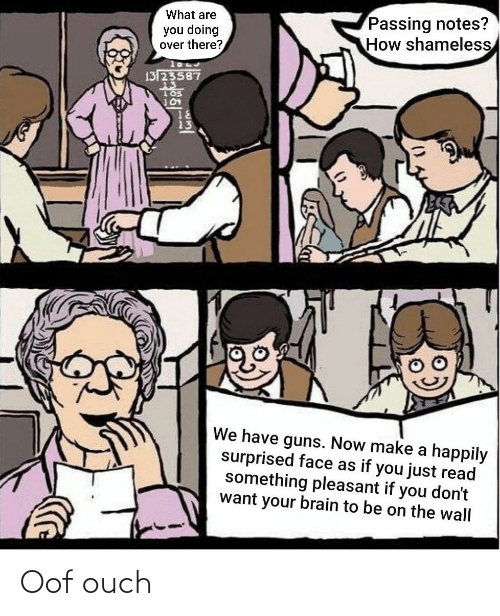ouch: Oof ouch
