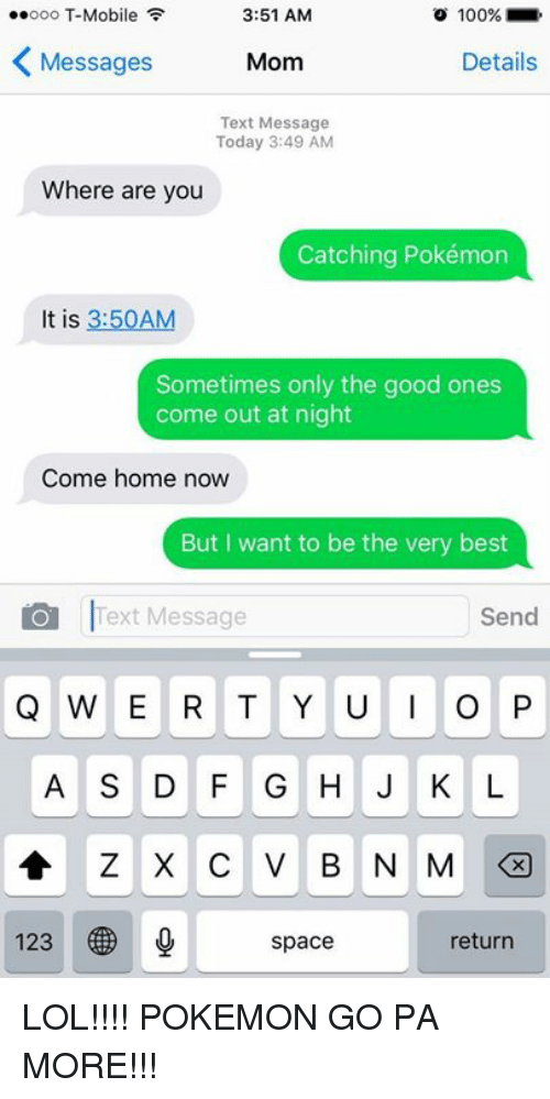 25+ Best Memes About Mom, Moms, Pokemon, T-Mobile, Texting ...