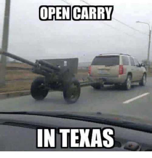 Open Carry: OPEN CARRY  IN TEXAS