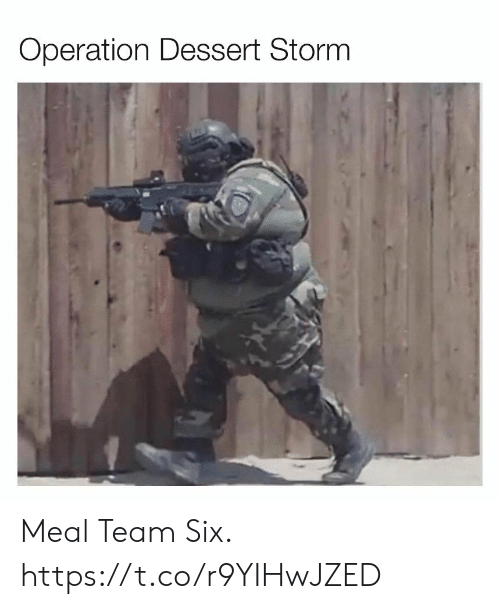 Meal Team Six: Operation Dessert Storm Meal Team Six. https://t.co/r9YIHwJZED