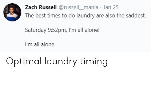 Laundry: Optimal laundry timing