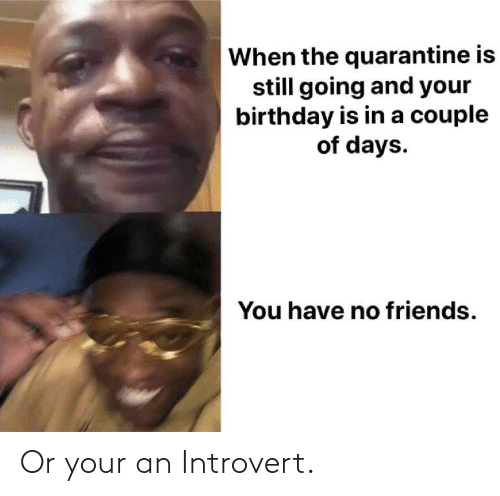 an introvert: Or your an Introvert.