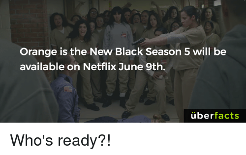 Uber Facts: Orange is the New Black Season 5 will be  available on Netflix June 9th.  uber  facts Who's ready?!