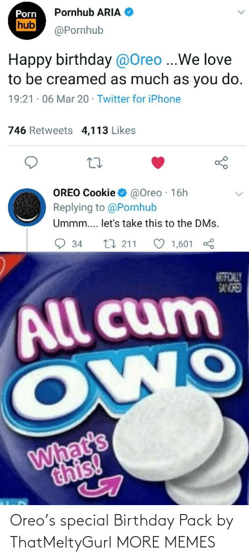 pack: Oreo's special Birthday Pack by ThatMeltyGurl MORE MEMES