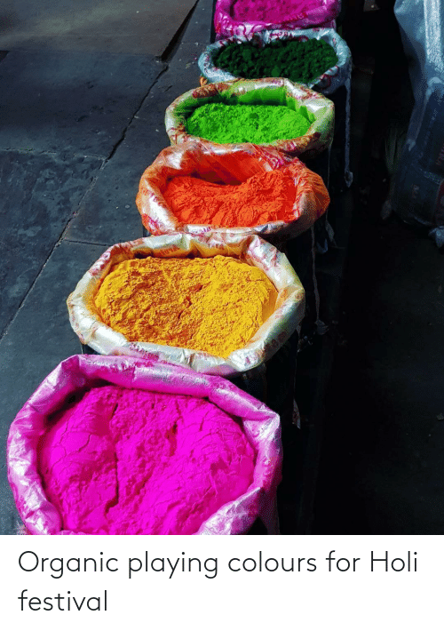 holi: Organic playing colours for Holi festival