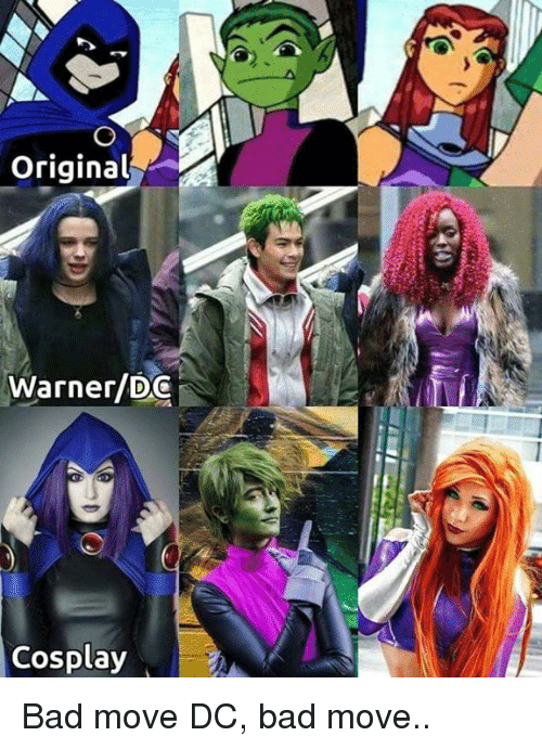 Bad, Funny, and Cosplay: Original  Warner/DG  Cosplay Bad move DC, bad move..