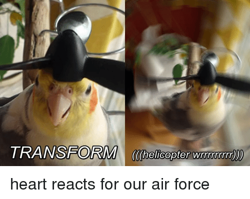 Air Force, Heart, and Air: ORM helicopter wrwwwwm) heart reacts for our air force