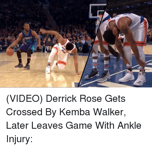 Derrick Rose, Memes, and 🤖: ORMET5 (VIDEO) Derrick Rose Gets Crossed By Kemba Walker, Later Leaves Game With Ankle Injury: