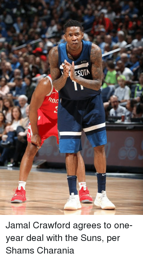 Roc, Jamal Crawford, and One: OTA  ROC  oct Jamal Crawford agrees to one-year deal with the Suns, per Shams Charania