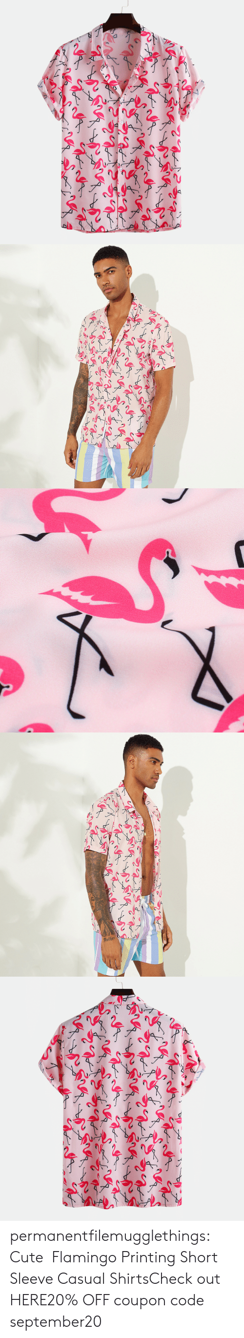 Printing: other permanentfilemugglethings:  Cute Flamingo Printing Short Sleeve Casual ShirtsCheck out HERE20% OFF coupon code:september20