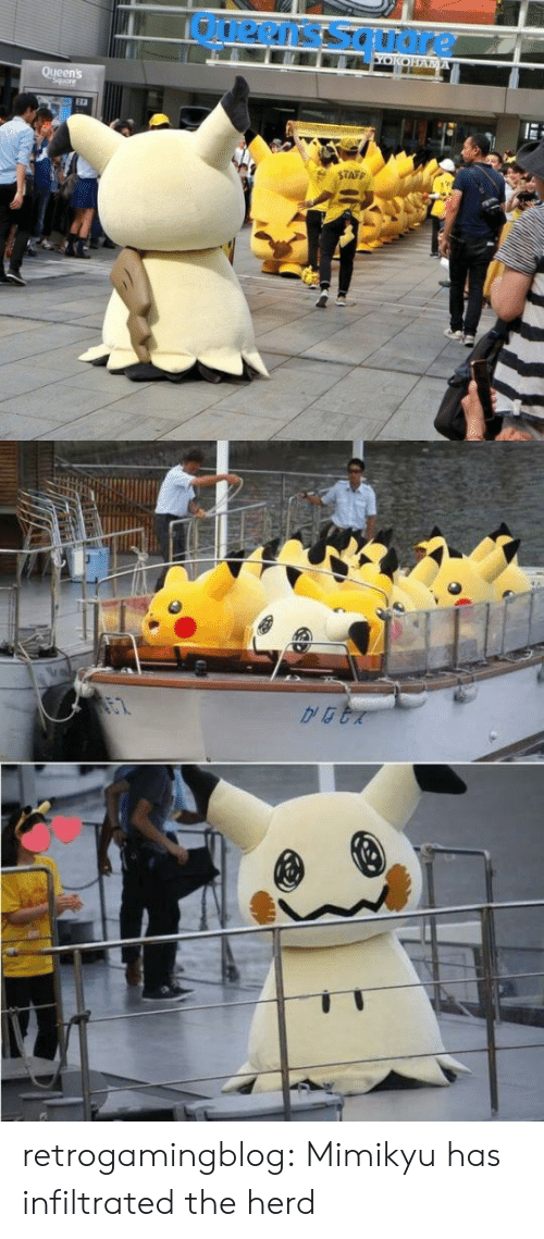 Taff: Ouerns soudre  YOKOHA A  Queen's  Squore  $TAFF   DEB retrogamingblog: Mimikyu has infiltrated the herd