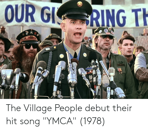 """village people: OUR GI  RING TH  KENG The Village People debut their hit song """"YMCA"""" (1978)"""