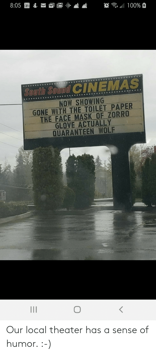 local: Our local theater has a sense of humor. :-)