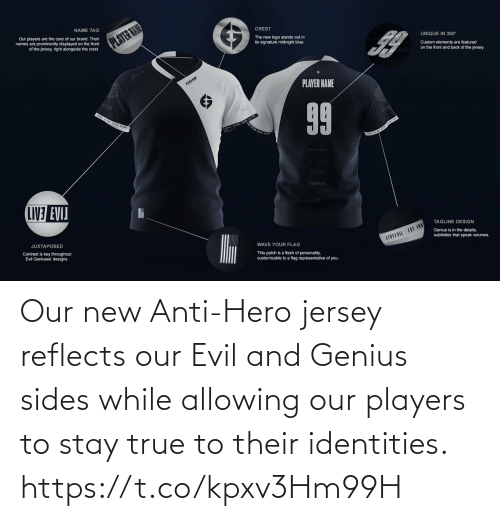 Evil: Our new Anti-Hero jersey reflects our Evil and Genius sides while allowing our players to stay true to their identities. https://t.co/kpxv3Hm99H