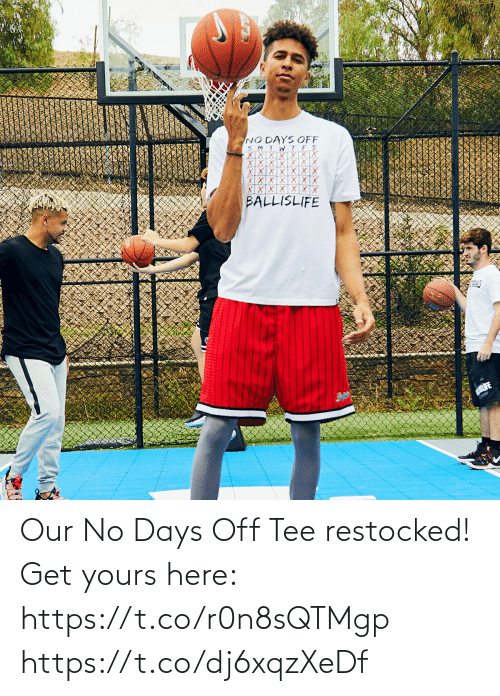 tee: Our No Days Off Tee restocked!  Get yours here: https://t.co/r0n8sQTMgp https://t.co/dj6xqzXeDf
