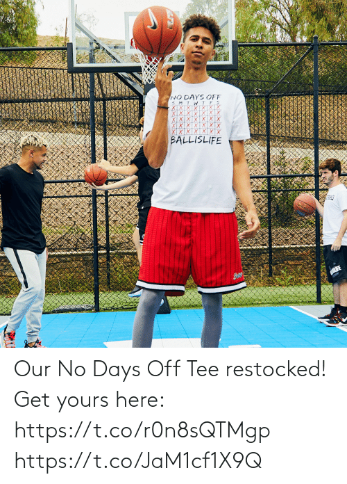 tee: Our No Days Off Tee restocked!  Get yours here: https://t.co/r0n8sQTMgp https://t.co/JaM1cf1X9Q