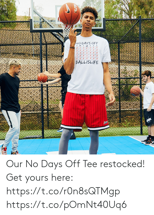 tee: Our No Days Off Tee restocked!  Get yours here: https://t.co/r0n8sQTMgp https://t.co/pOmNt40Uq6