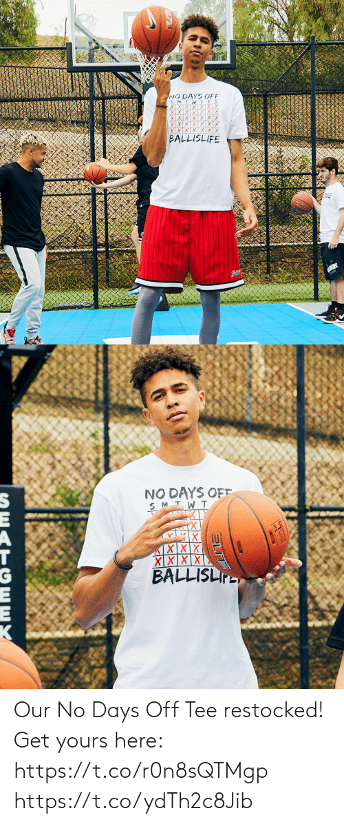 tee: Our No Days Off Tee restocked!  Get yours here: https://t.co/r0n8sQTMgp https://t.co/ydTh2c8Jib
