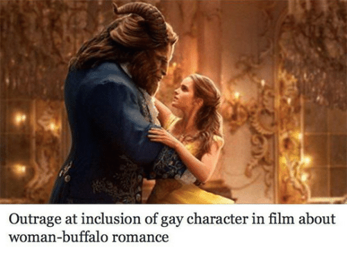 inclusion: Outrage at inclusion of gay character in film about  woman-buffalo romance