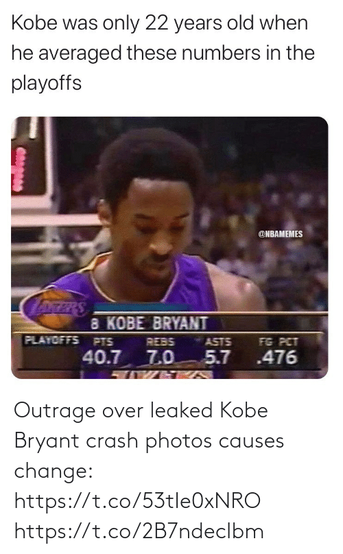 Outrage: Outrage over leaked Kobe Bryant crash photos causes change: https://t.co/53tIe0xNRO https://t.co/2B7ndecIbm