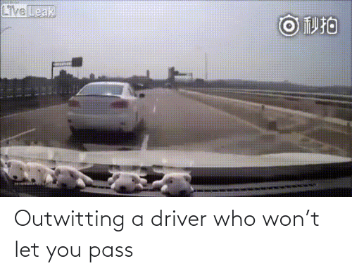 pass: Outwitting a driver who won't let you pass