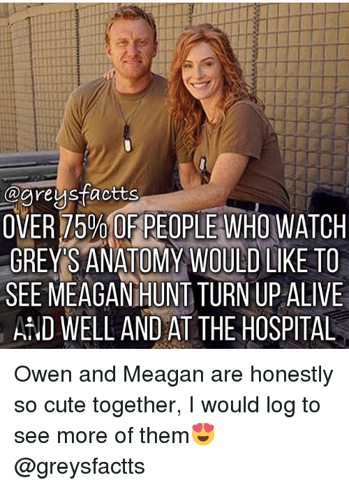 OVER 75% OF PEOPLE WHO WATCH GREYS ANATOMY WOULD LIKE TO SEE MEAGAN ...
