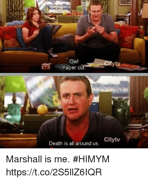 Memes, Death, and 🤖: Owl  Paper cut  ytv  Citytv  Death is all around us Marshall is me. #HIMYM https://t.co/2S5llZ6IQR