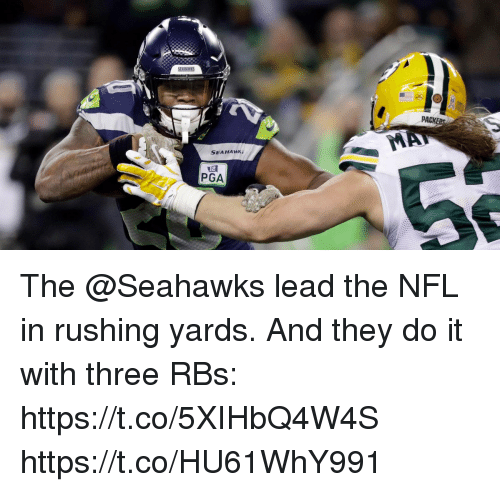 rbs: PACK  SEAHAWK;  PGA The @Seahawks lead the NFL in rushing yards.  And they do it with three RBs: https://t.co/5XIHbQ4W4S https://t.co/HU61WhY991