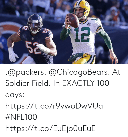 soldier: .@packers. @ChicagoBears. At Soldier Field.  In EXACTLY 100 days: https://t.co/r9vwoDwVUa #NFL100 https://t.co/EuEjo0uEuE